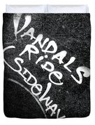 Vandals Ride Sideways Duvet Cover