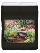 Vandusen Garden Iris Bridge Duvet Cover