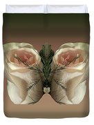 Vanilla Butterfly Rose Duvet Cover