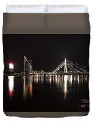 Vansu Bridge Riga Duvet Cover