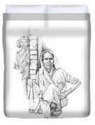 Varanasi Woman Duvet Cover