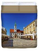 Varazdin Main Square, Croatia Duvet Cover