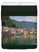 Varenna Italy Old Town Waterfront Duvet Cover