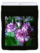 Variegated Carnations Duvet Cover