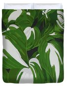Variegated Hostas Duvet Cover