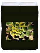 Variegated Succulent Duvet Cover