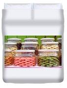 Various Cookies In Glass Jars Duvet Cover
