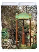 Various Old Rusty Vintage Agricultural Devices In Croatia Duvet Cover