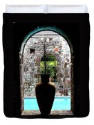 Vase In A Window Duvet Cover