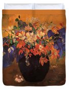 Vase Of Flowers 1896 Duvet Cover
