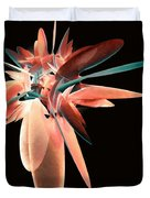 Vase Of Flowers Abstract Duvet Cover
