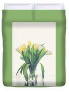 Vase Of Tulips Duvet Cover