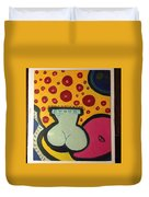 Vase With Flowers Duvet Cover