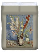 Vase With Gladioli And Chinese Asters Paris, August - September 1886 Vincent Van Gogh 1853  1890 Duvet Cover