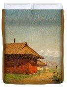 Vasily Vasilievich Vereshchagin  Russian 1842  1904 Nepalese Village Duvet Cover
