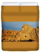 Vasquez Rocks State Park, Sunset Duvet Cover
