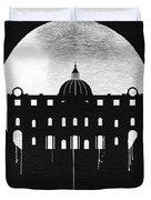 Vatican City Landmark Black Duvet Cover