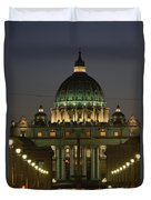 Vatican, Rome, Italy.  Night View Duvet Cover