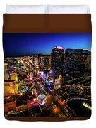 Vegas At Dusk Duvet Cover