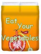 Vegetable Kitchen Decor Duvet Cover
