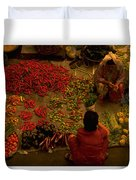 Vegetable Market In Malaysia Duvet Cover