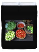Vegetables In A Basket Duvet Cover