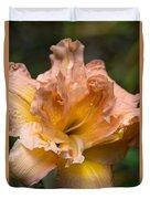 Veiled Mother Of Ivory Iris Duvet Cover