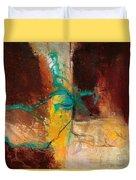 Vein Turquoise Duvet Cover