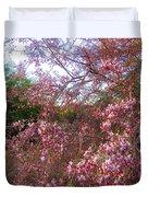 Vekol Wash Desert Ironwood In Bloom Duvet Cover