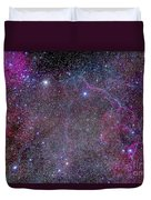 Vela Supernova Remnant In The Center Duvet Cover