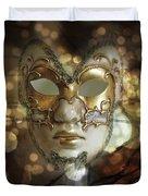 Venetian Golden Mask Duvet Cover