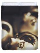 Venetian Masquerade Mask Rings Duvet Cover