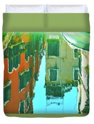 Venetian Mirror - Venice In Water Reflections Duvet Cover