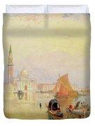 Venetian Scene, 19th Century Duvet Cover