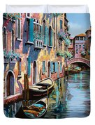 Venezia In Rosa Duvet Cover