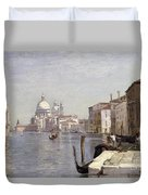 Venice - View Of Campo Della Carita Looking Towards The Dome Of The Salute Duvet Cover