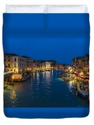 Venice And The Grand Canal In The Evening Duvet Cover