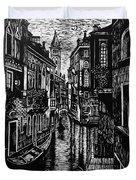 Venice At Night Duvet Cover