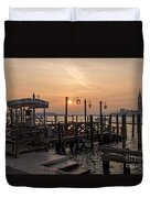 Venice At Sunset Duvet Cover