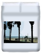 Venice Beach California Duvet Cover by Phill Petrovic