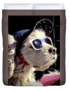 Venice Beach Dog Duvet Cover