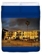Venice Beach. Golden Sunset Duvet Cover