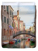 Venice Bridge Crossing 5 Duvet Cover