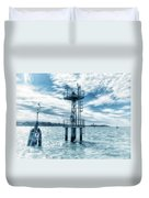Venice - Buoy And Mooring In The Lagoon Duvet Cover