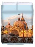 Venice Church Of St. Marks At Sunset Duvet Cover