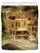 Venice City Of Bridges Duvet Cover