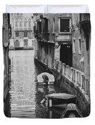 Venice Docked Boats Duvet Cover