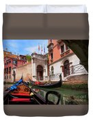 Venice From A Gondola Duvet Cover