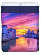 Venice Grand Canal At Sunset Duvet Cover