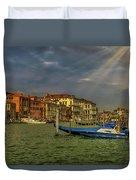 Venice Grand Canal God Sun Rays Duvet Cover